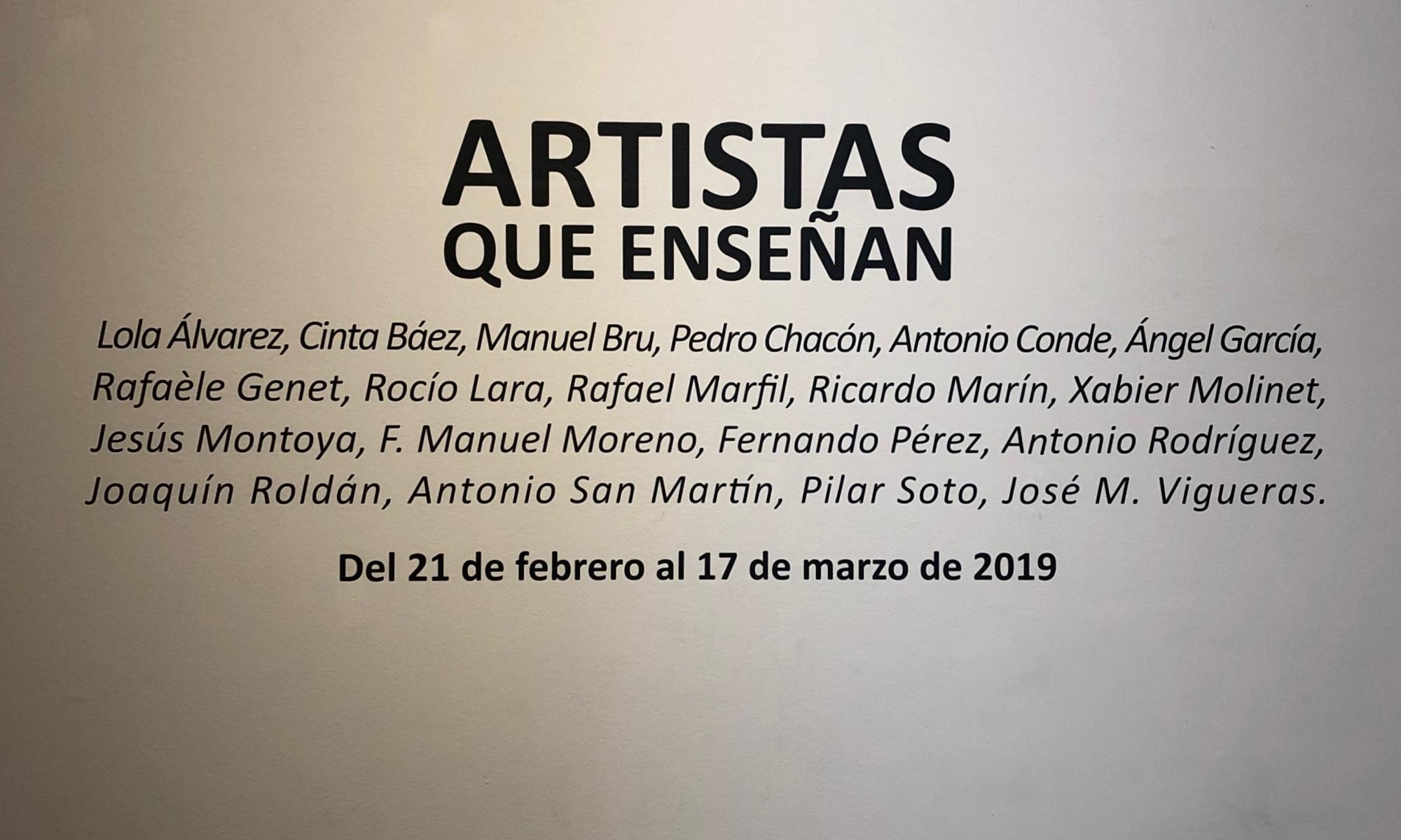 Artistas que enseñan